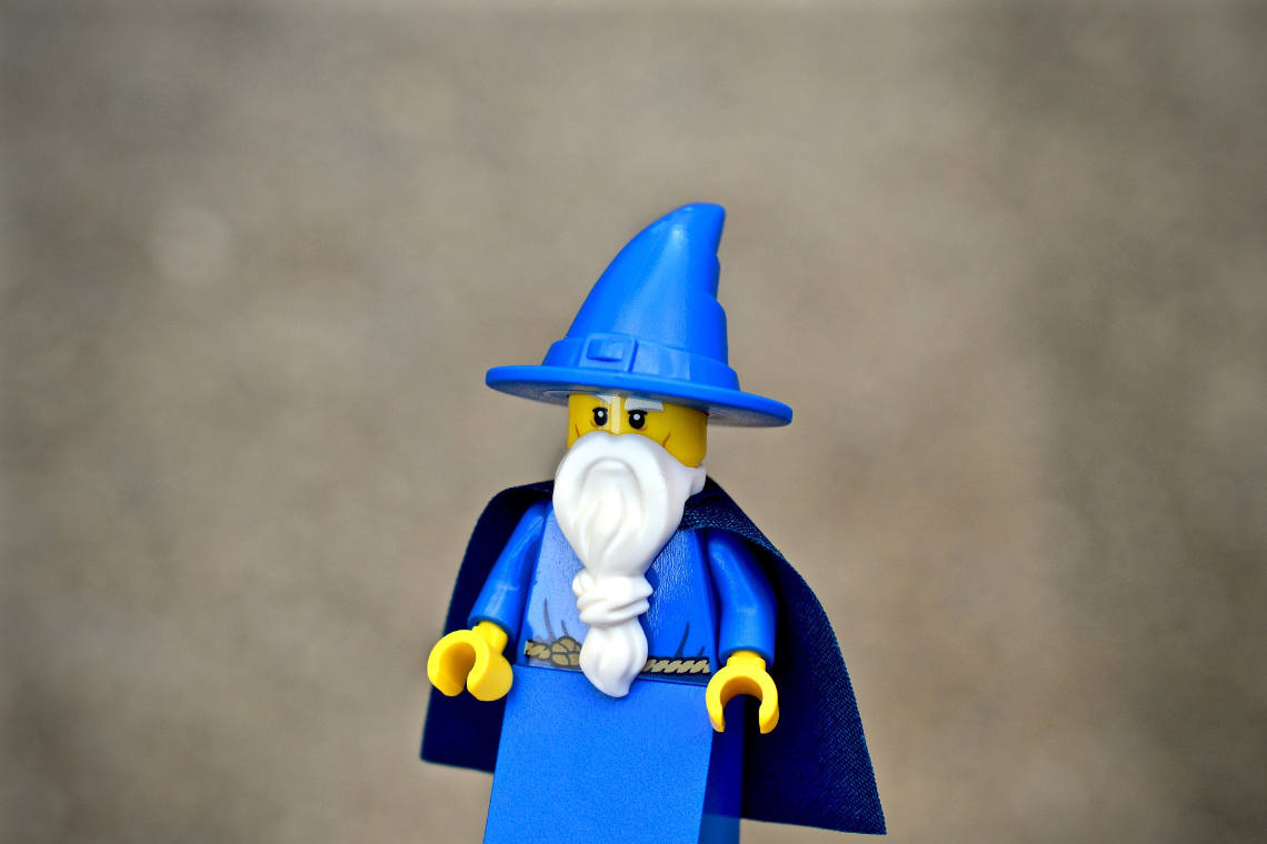 Image of a lego wizard